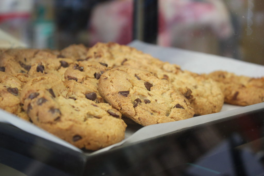 fresh baked choc chip cookies